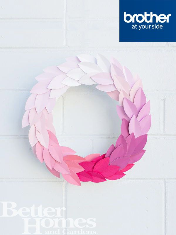 Create a Paper Wreath this Christmas. We love this one that #HipsterMum created! @hipstermum @brotherau