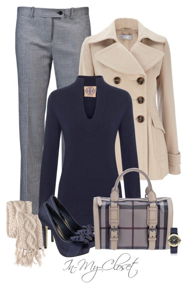 """Cashmere Tunic"" by in-my-closet ❤ liked on Polyvore featuring Jil Sander Navy, Wallis, Tory Burch, H&M, Burberry and Marc by Marc Jacobs"