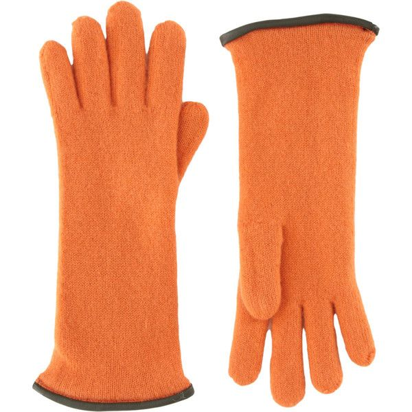 Barneys New York Short Cashmere Gloves ($165) ❤ liked on Polyvore featuring accessories, gloves, cashmere gloves, short gloves, barneys new york and orange gloves