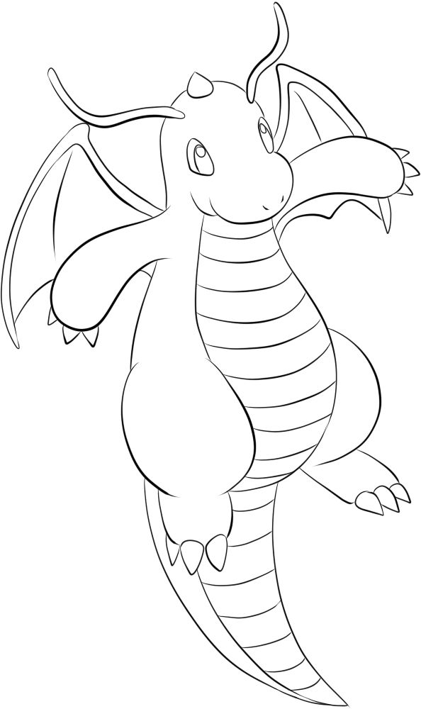 149 Dragonite Lineart By Lilly Gerbil Swag Pokemon