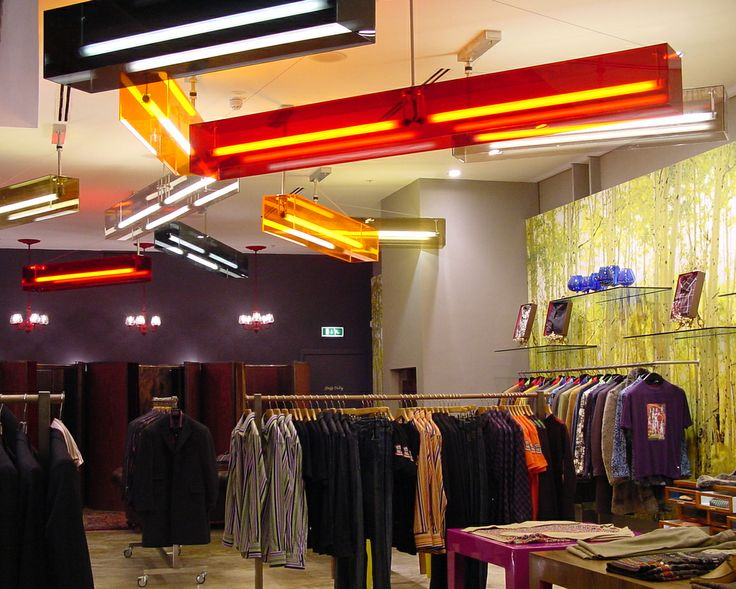 Ted Baker, Manchester - Into Lighting archive photo of work with in-house Ted Baker team for Manchester store design