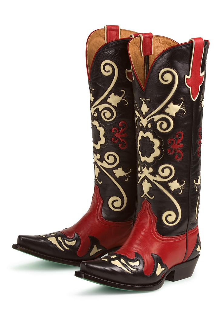 Perfect AMAZING VINTAGE RED LEATHER COWBOY BOOTS WOMENS SIZE 8