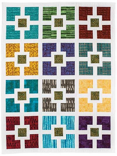 Hole In The Wall Quilt Pattern Modern Quilt Pinterest