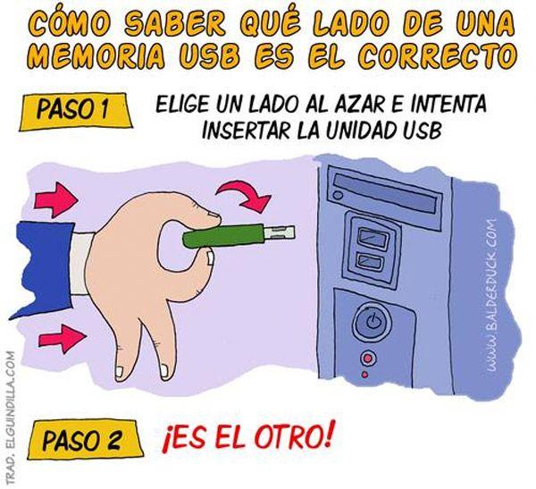 #humor #NoSeNosEstaraYendoDeLasManos #cebancesfuturo  @CEBANC El lado correcto de una memoria USB
