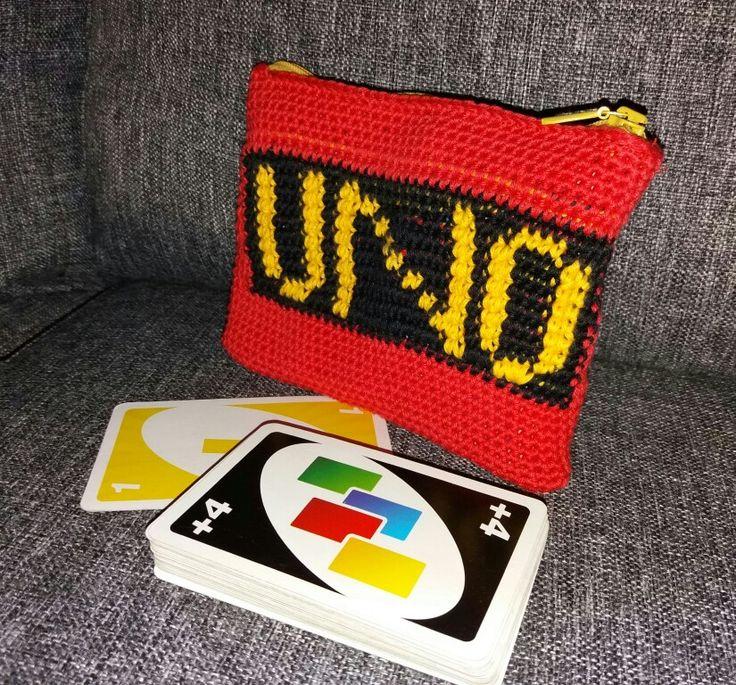 Chrochet card purse
