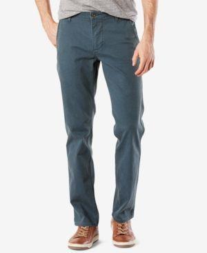 Dockers Men's Stretch Slim Tapered Fit Alpha Khaki Pants - Blue 38x29