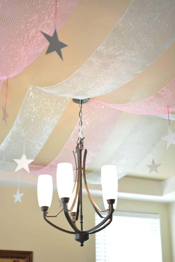 Ceiling decoration at  a Cinderella birthday party! See more party ideas at CatchMyParty.com!
