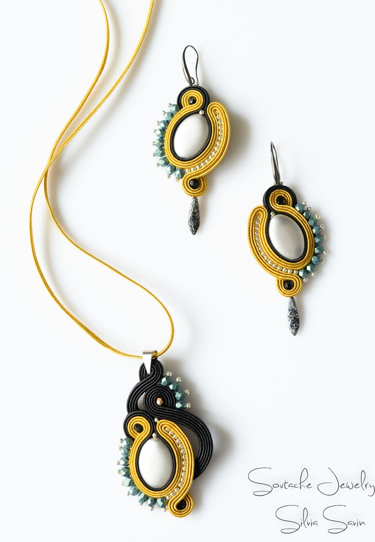 Soutache earrings and pendant                                                                                                                                                                                 More