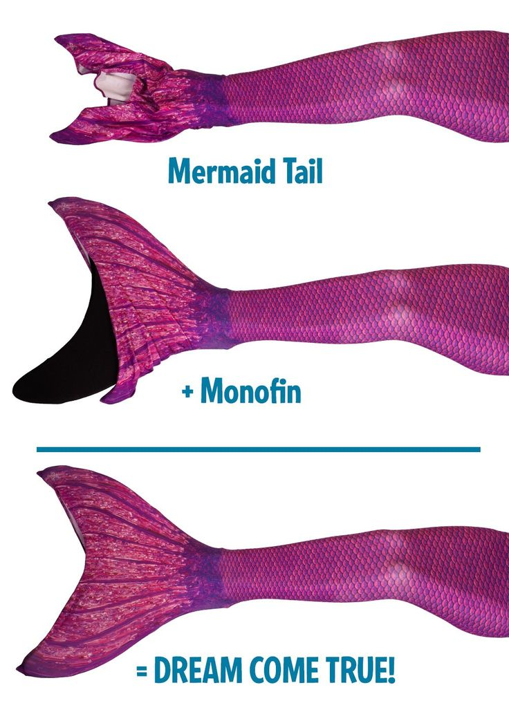 Mermaid tail + Monofin = Dream come true! Share if you agree!
