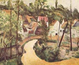A Turn In The Road  Paul Cezanne