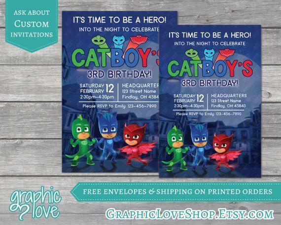 PJ Masks Personalized Birthday Invitations  Disney Jr