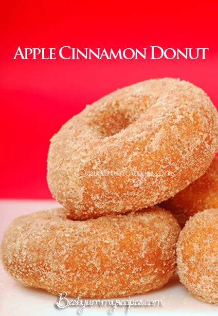 Apple Cinnamon Donut Recipe | dessert | Pinterest