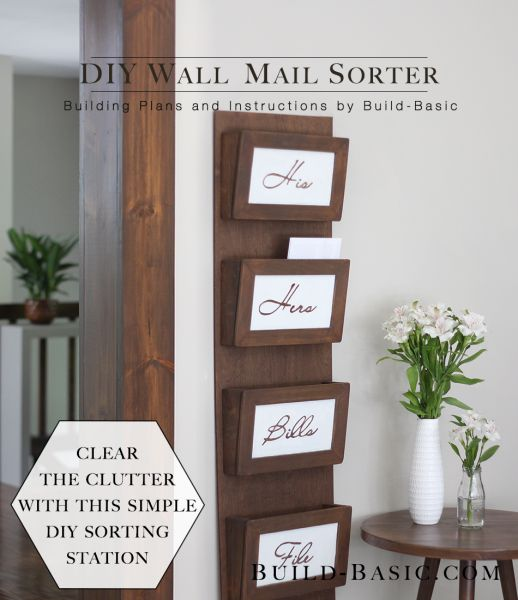 Build A DIY Wall Mail Sorter   Building Plans By @BuildBasic Www.build