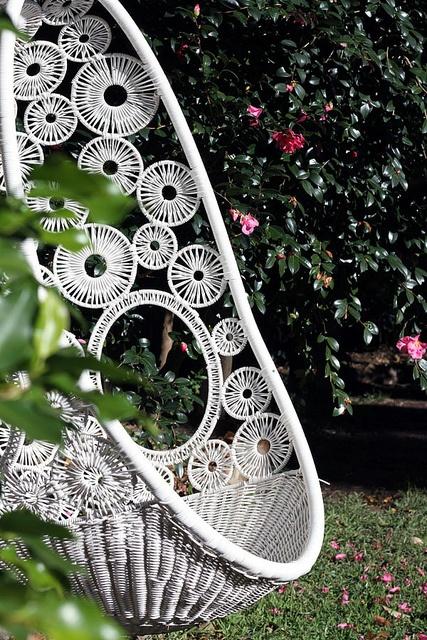 Wicker garden chair.