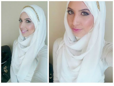 ▶ Hijab Tutorial | Headband & Chest Coverage - YouTube