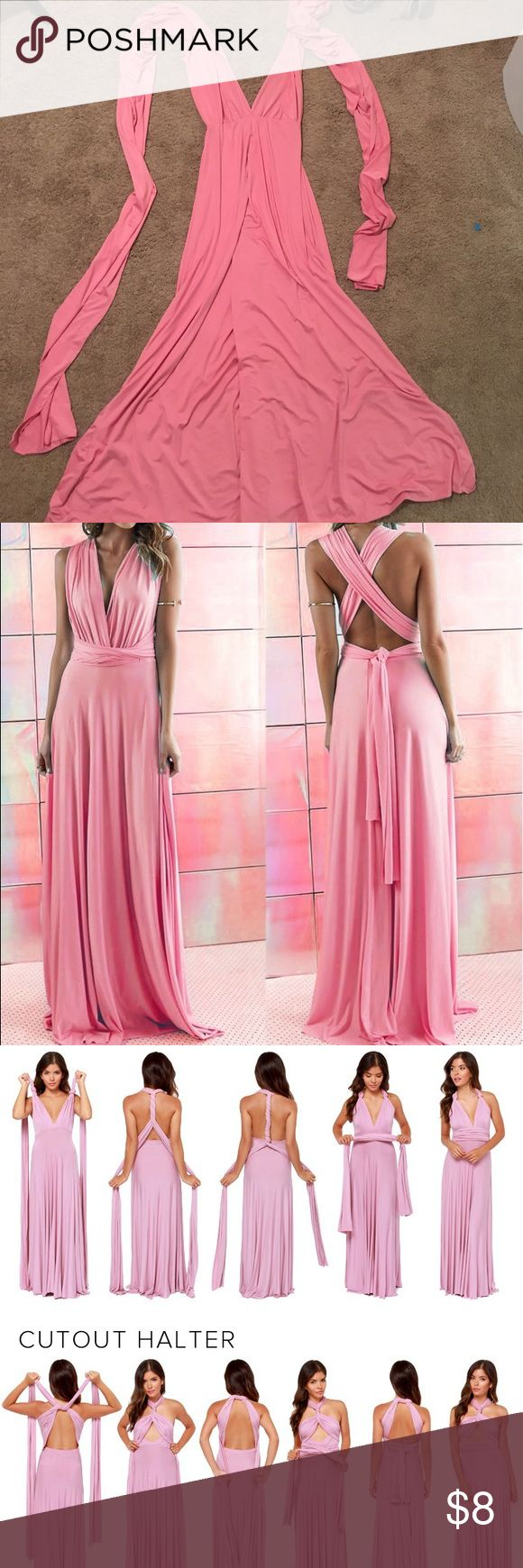 Wrap maxi dress So pink and so beautiful! I wore this out to dinner for my honeymoon and got so many compliments. It feels like wearing a night gown! Also, there are ENDLESS ways to style it. So make it your own! Dresses Maxi