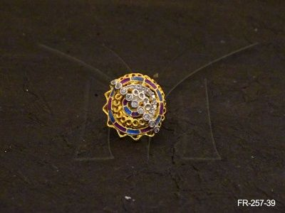 FR-257-39 || ROUND SPIRAL POLO AD FINGER RING