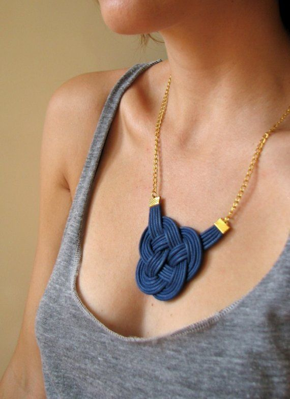 knot necklace.
