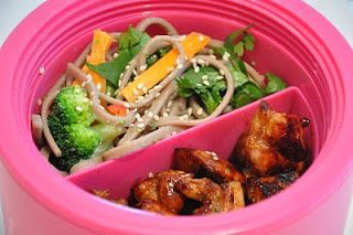 Recipe Rifle: Bento Part 2; soba noodle salad and terikayi chicken