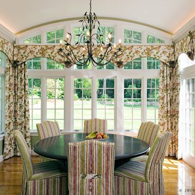 Sunrooms With French Doors And Spider Web Transom Windows