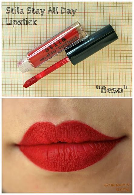 """The Happy Sloths: Stila Stay All Day Liquid Lipstick in """"Beso"""": Review and Swatches"""