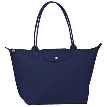 Longchamp Planetes in Midnight Blue, large long handle