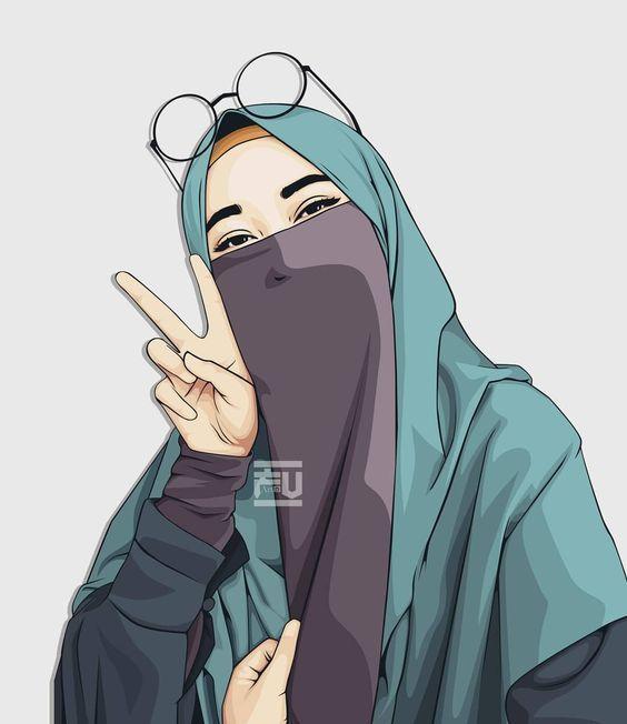 150 Gambar Kartun Muslimah Berkacamata Cantik Sedih Terlengkap Kartun Gambar Animasi