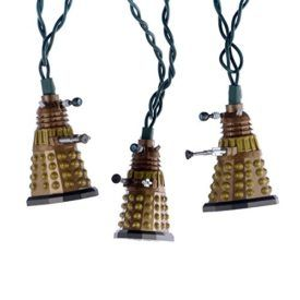 This Kurt Adler 10-Light Doctor Who Bronze Dalek Light Set is a fun and unique way to add to your holiday décor or collection – perfect for Doctor Who fans! The Dalek is featured here in 10 bronze-colored light covers. Each set has a 30-inch lead wire, 12-inch spacing between lights, and uses clear incandescent […]