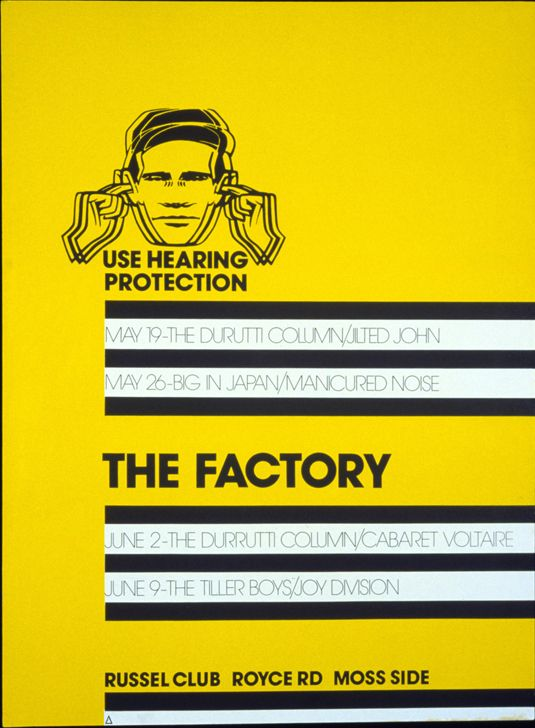 Having studied graphic design at Manchester Polytechnic, the young designer Peter Saville famously met Factory Records founder Tony Wilson in 1978, leading to a commission for FAC 1, the label's first poster. Saville would become a partner at Factory, and go on to create iconic artwork for the likes of Joy Division and New Order that would inspire a generation.
