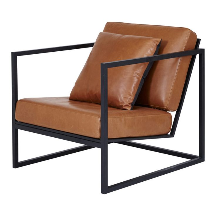 Best Black Metal Frame And Tan Leather Armchair Designer 400 x 300