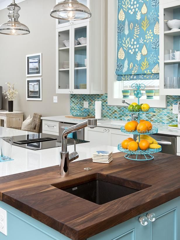 White, Brown And Turquoise Palette For The Kitchen U003eu003e Http://www