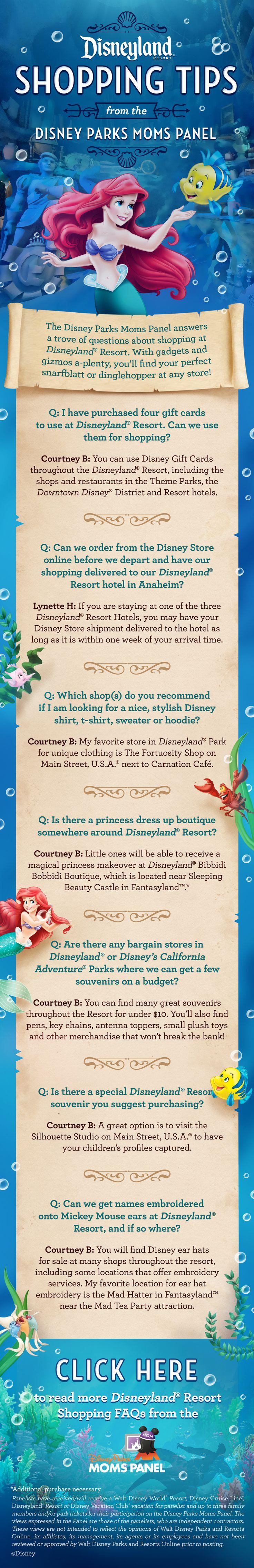 Disneyland shopping tips from the Disney Parks Moms Panel.