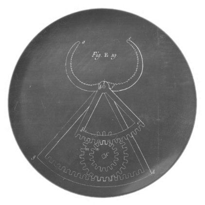 Industrial Engineering Chalkboard 5 Melamine Plate - kitchen gifts diy ideas decor special unique individual customized