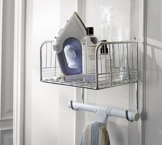 Chrome Ironing Board Rack | Pottery Barn