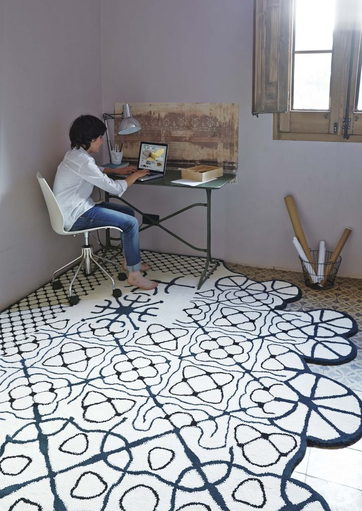 Patterned wool rug DAUVINE - GAN By Gandia Blasco