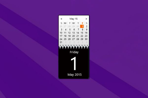 Calendar Planner Windows Gadget : Zerog calendar windows desktop gadget http