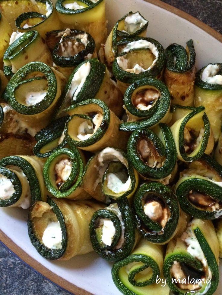 Grillen 2014, Zucchiniröllchen, Fingerfood, vegetarisch, glutenfrei, glutenfree, Party, by malamü                                                                                                                                                                                 Mehr