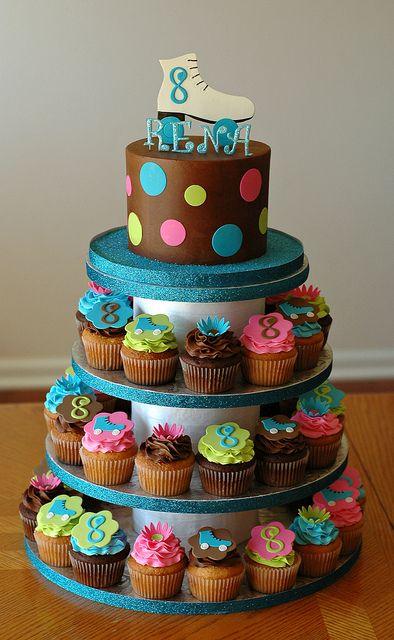 Skate Cupcake Tower by Christina's Dessertery, via Flickr
