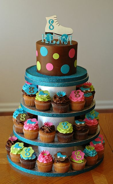 Skate Cupcake Tower by Christina's Dessertery, via Flickr