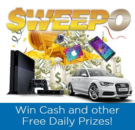 Sweepo is a Free Online Sweepstakes where you can win free prizes just for registering. Our Free Sweepstakes is full of Lottery Style Games where every Raffle you enter is Free to Play!