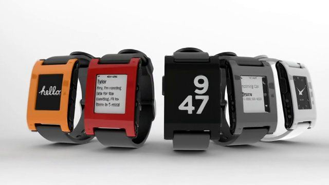 Pebble iPhone-Interactive Smart Watch, now available at BestBuy for $150 Pebble connects to iPhone and Android smartphones using Bluetooth, alerting you with a silent vibration to incoming calls, emails and messages. While designing Pebble, we strove to create a minimalist yet fashionable product that seamlessly blends into everyday life.