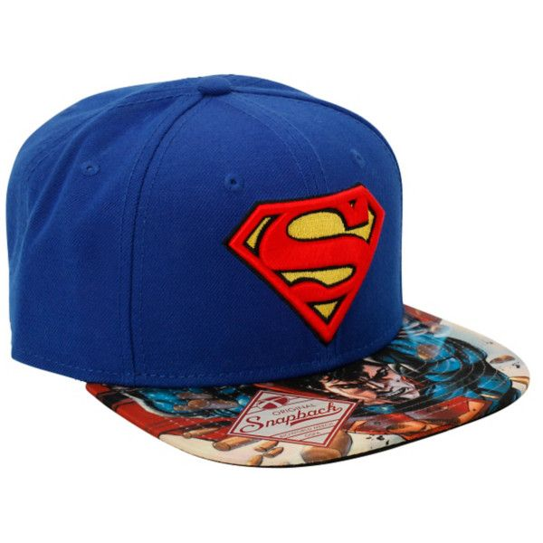 DC Comics Superman Man Of Steel Snapback Hat   Hot Topic ($14) ❤ liked on Polyvore featuring accessories, hats, hats/hair accessories, snapbacks, head, steelers hat, snapback hats, steelers snapback, snap back hats and steelers snapback hats