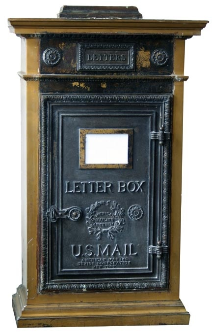 Antique Iron And Bronze Lobby Mailbox From Vernon Manor Cincinnati