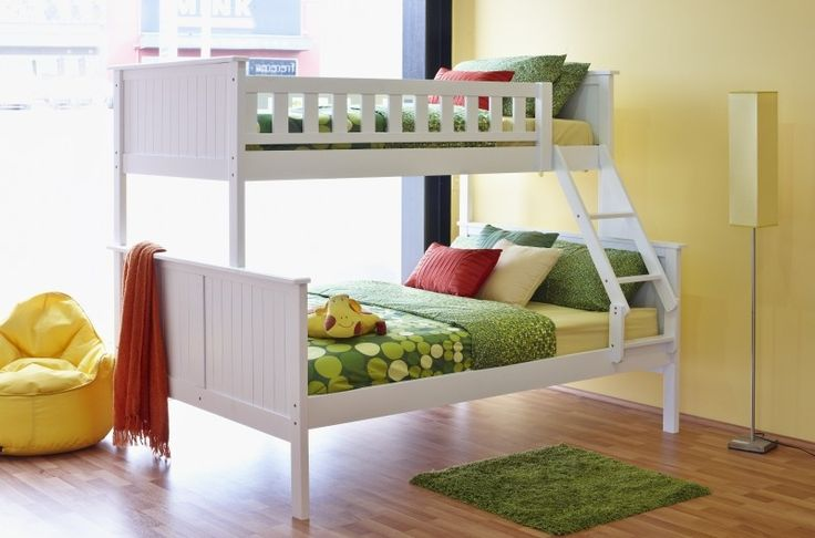 Bunk beds are a great space saving solution when siblings are sharing a room. There's no reason for them not to look good with the many stylish designs we have like the Jake Single Bed over Double Bed. The kids will definitely be competing for prime position.
