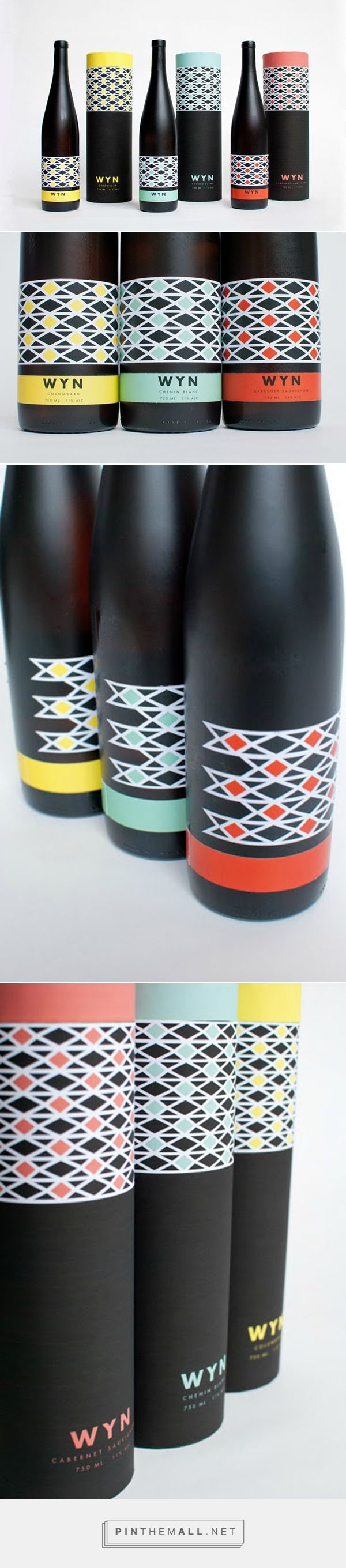 WYN Brand South African Wine Packaging by Brittany Albertson | Fivestar Branding – Design and Branding Agency & Inspiration Gallery