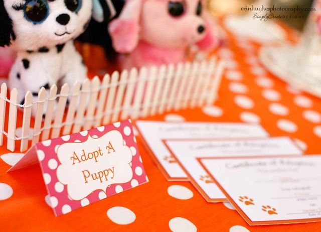 Adopt A Puppy Party Favors #puppyparty #favors