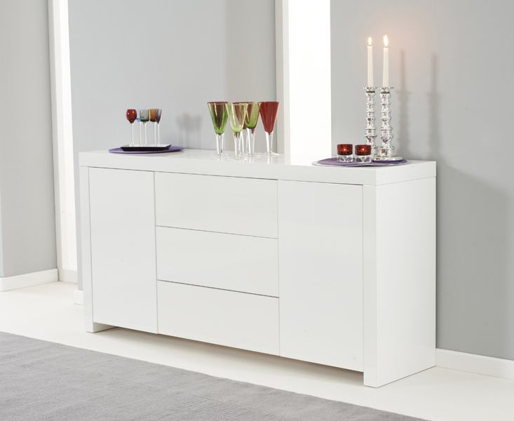 buy the hampstead white high gloss sideboard at oak furniture superstore