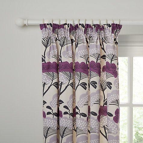 Buy Sanderson Home Tree Tops Lined Pencil Pleat Curtains Online at johnlewis.com