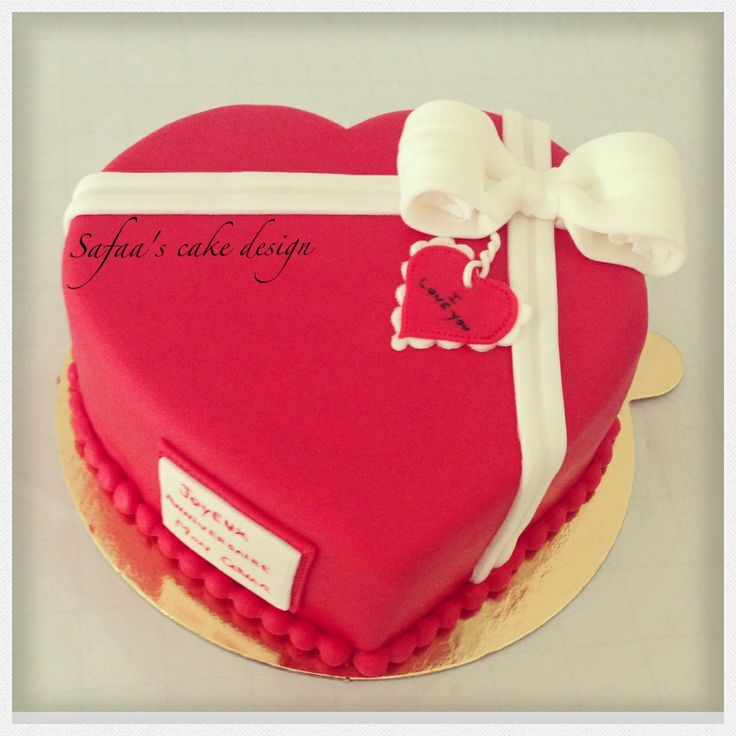 Red heart cake red heart Pinterest Red hearts, Heart ...