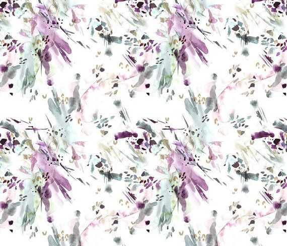 Tissu Lavande Abstrait Par Yard Courtepointe En Coton Bio Tricot Jersey Ou Minky Tissu Violet Aquarelle De Bebe Chambre D Enfant Tissu Moderne Nursery Fabric Abstract Watercolor Purple Fabric